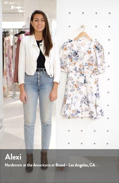 Floral Toile Cotton & Linen Blend Dress, sales video thumbnail