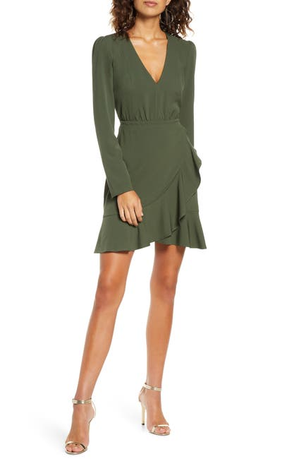 Image of Ali & Jay What's Your Dream Faux Wrap Mini Dress