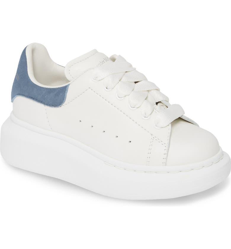 ALEXANDER MCQUEEN Oversize Sneaker, Main, color, WHITE/ PARIS BLUE