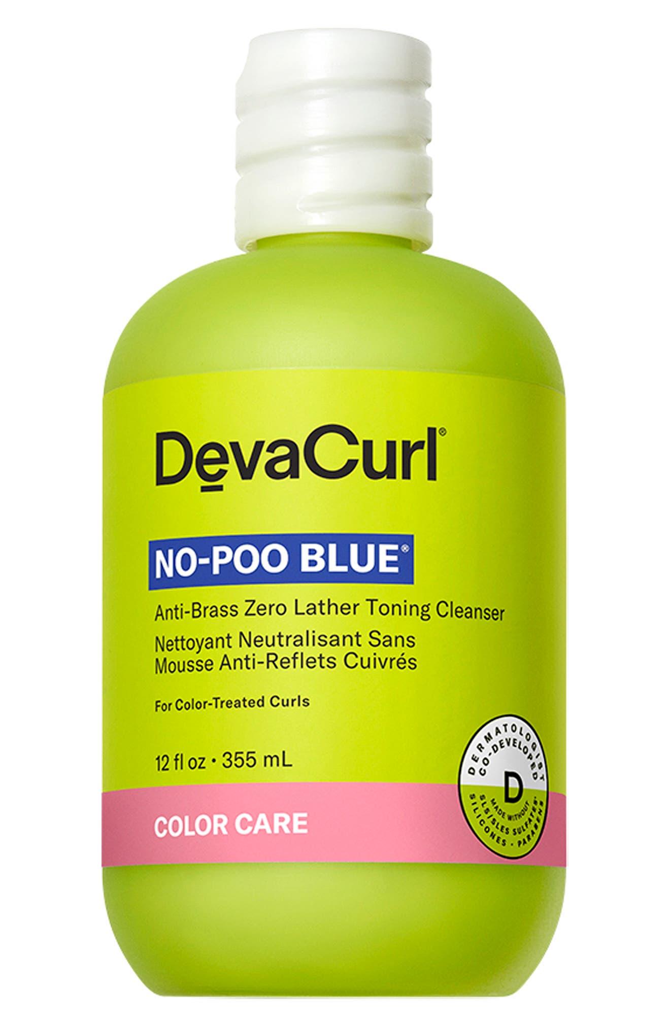 DevaCurl No-Poo Blue(R) Anti-Brass Zero Lather Toning Cleanser