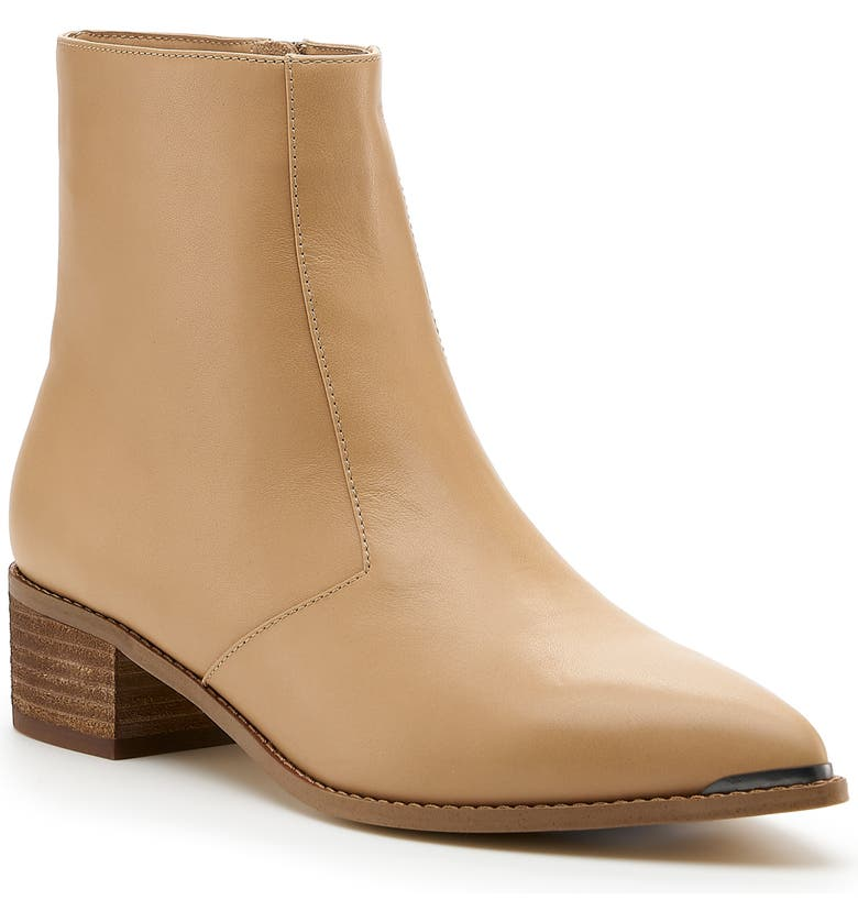 BOTKIER Greer Pointy Toe Bootie, Main, color, TAUPE LEATHER