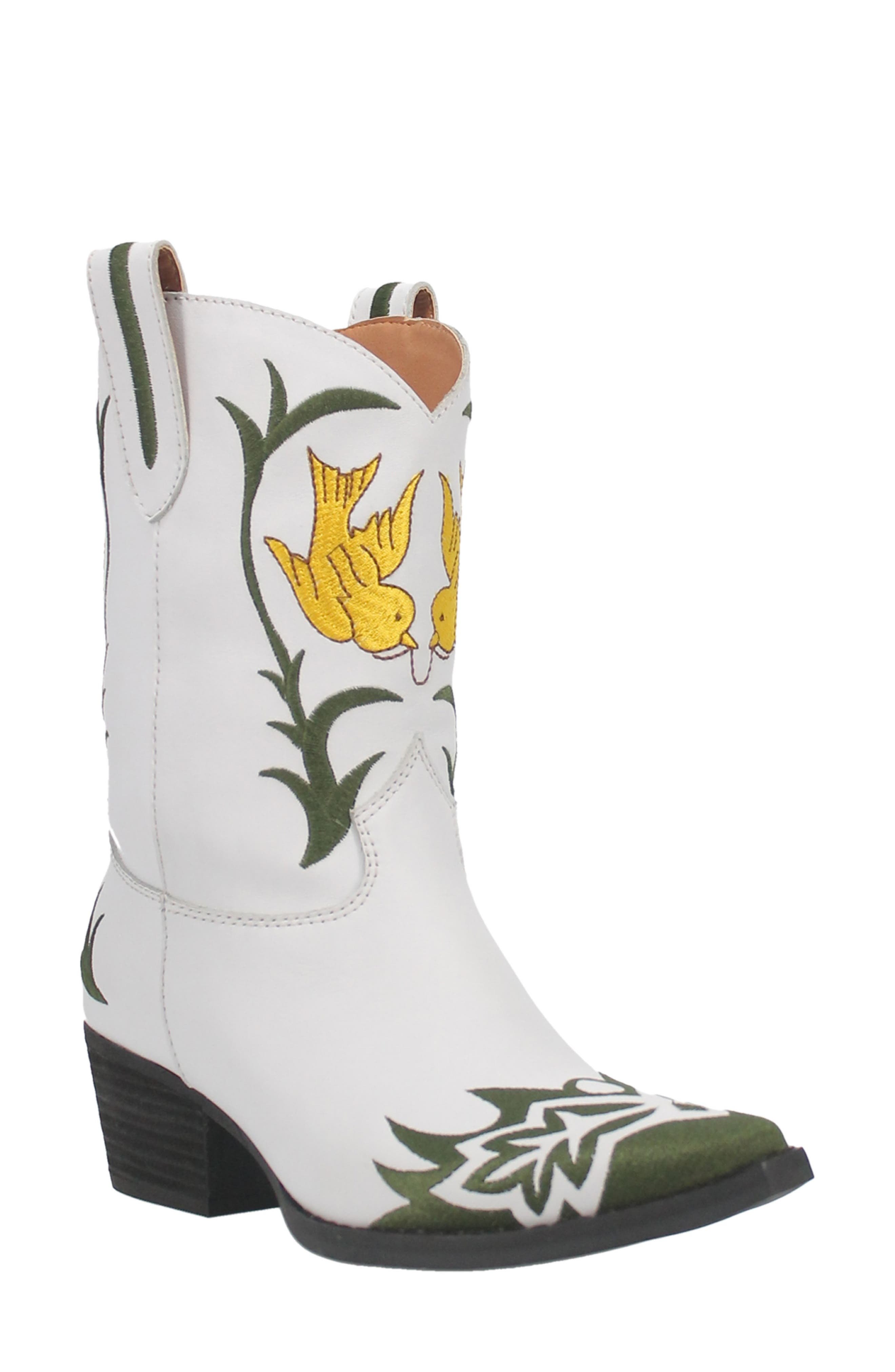 Early Bird Embroidered Western Boot