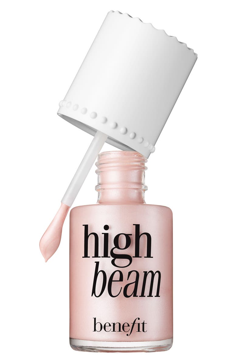 BENEFIT COSMETICS Benefit High Beam Satiny Pink Liquid Highlighter, Main, color, 650