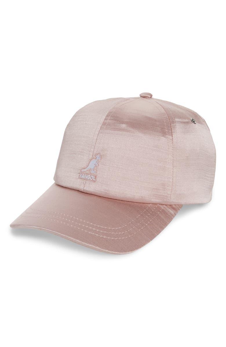 KANGOL Liquid Mercury Baseball Cap, Main, color, DUSTY ROSE