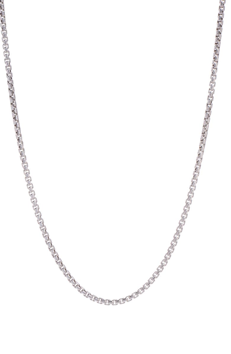 DEGS & SAL Box Chain Necklace, Main, color, SILVER
