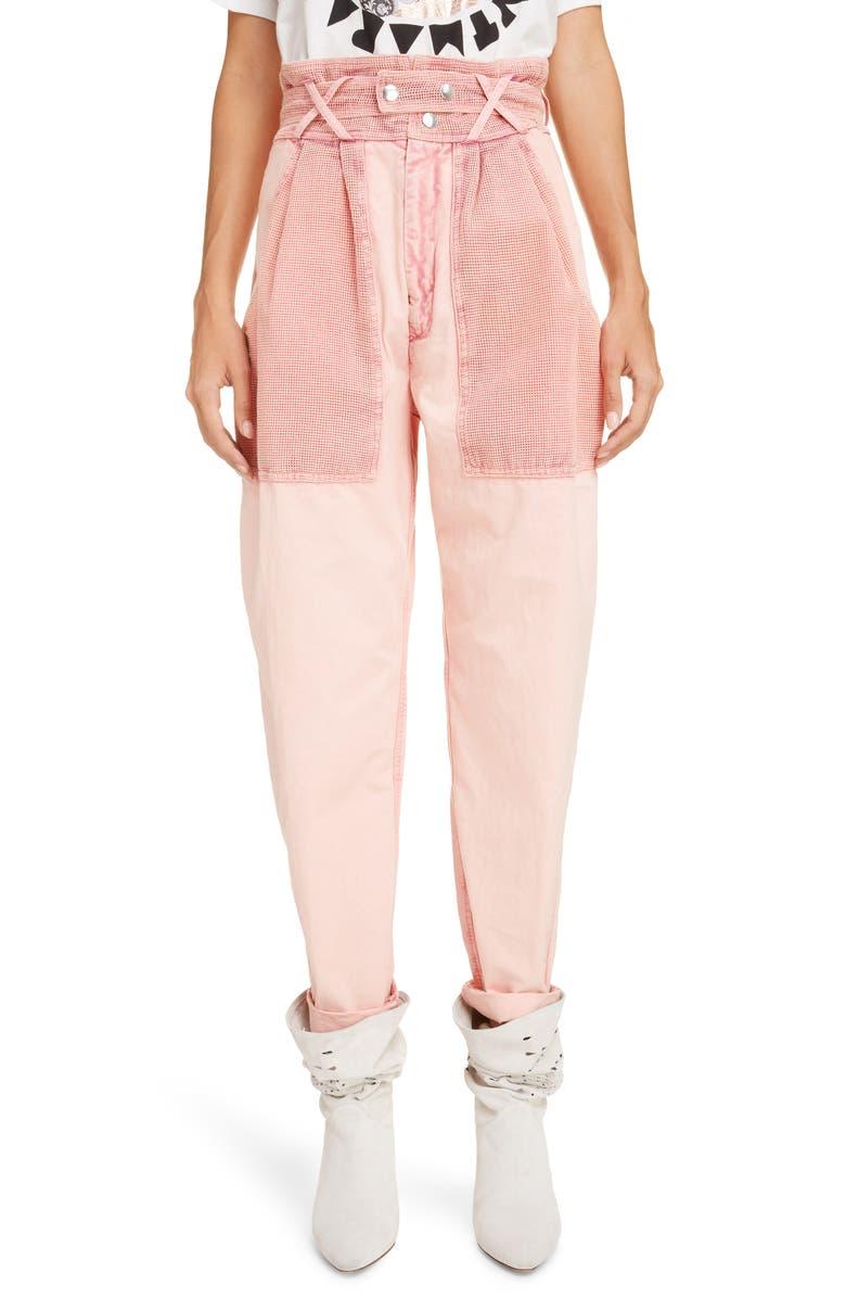 ISABEL MARANT High Waist Cotton Pants, Main, color, 650