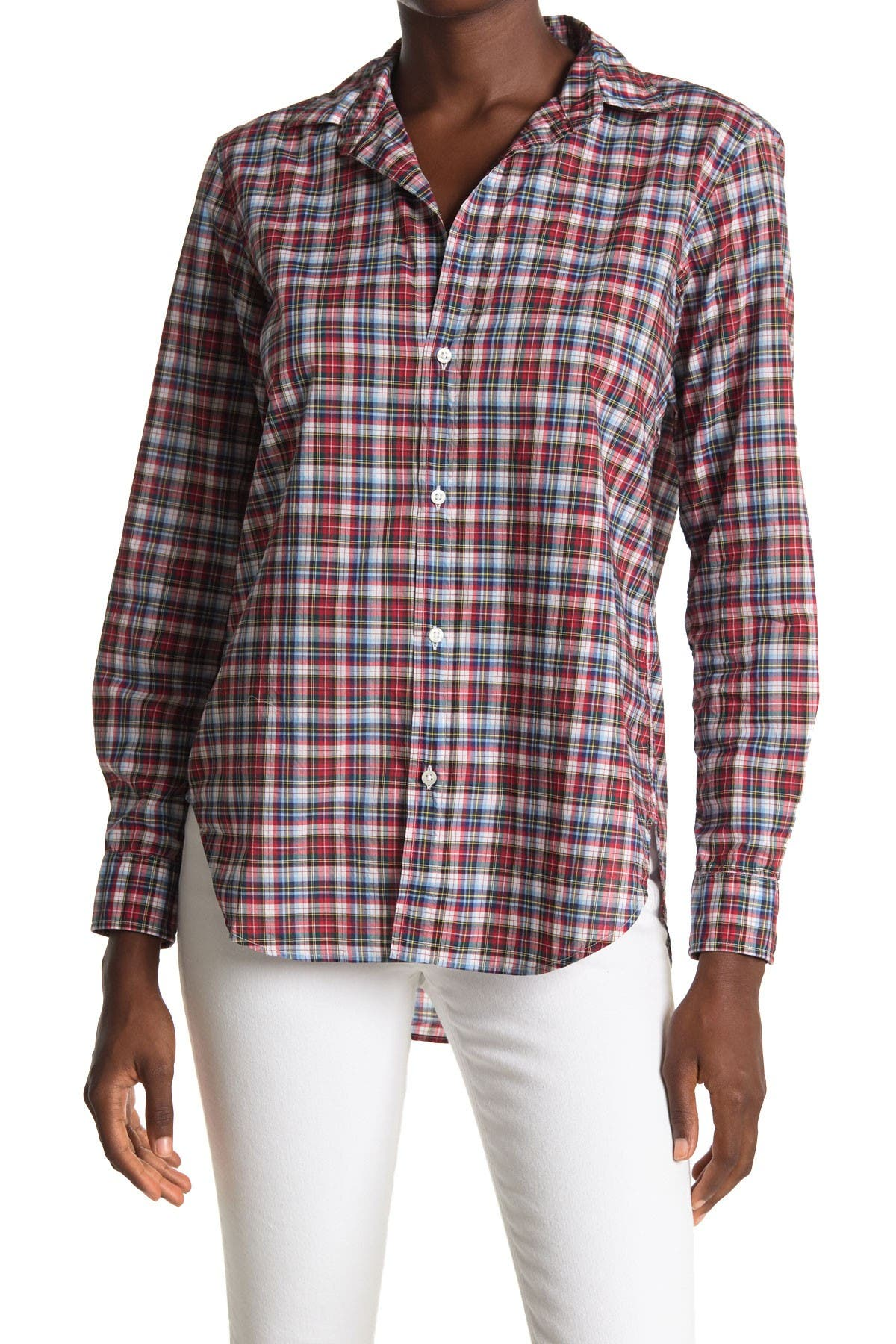 Image of FRANK & EILEEN Frank Plaid Woven Collared Shirt