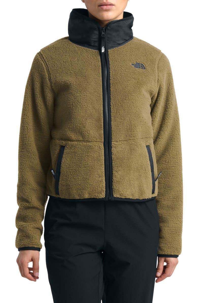 THE NORTH FACE Dunraven Faux Shearling Jacket, Main, color, BRITISH KHAKI