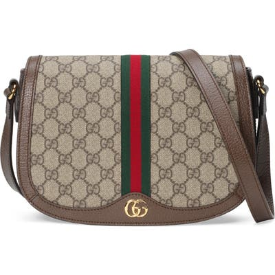 Gucci Small Ophidia Gg Supreme Canvas Shoulder Bag - Beige