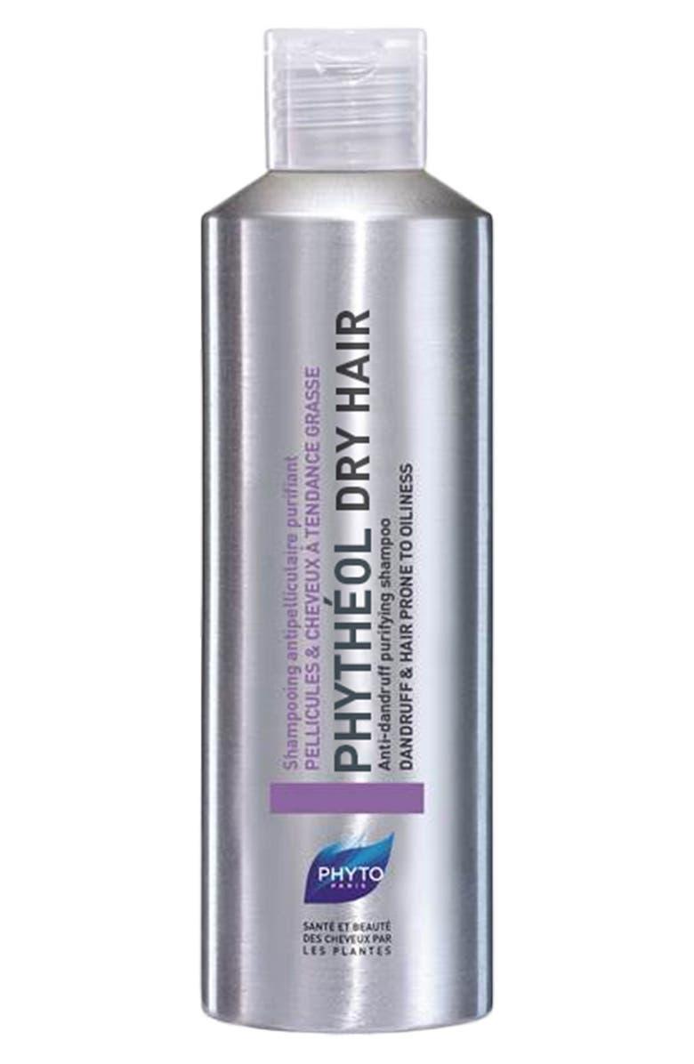 PHYTO Phytheol Dry Hair Anti-Dandruff Purifying Shampoo, Main, color, 000