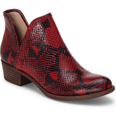 Lucky Brand Baley Bootie- Red