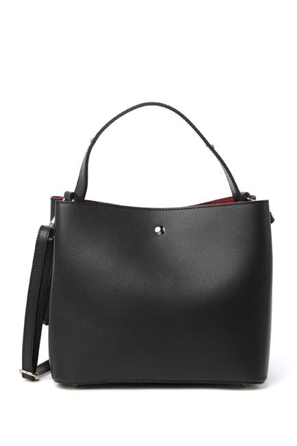 Image of Massimo Castelli Squared Leather Top Handle Bag