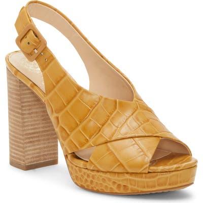 Vince Camuto Javasan Slingback Platform Sandal, Beige