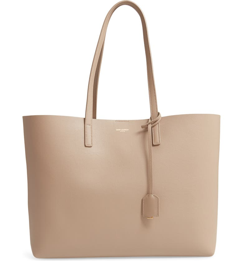 SAINT LAURENT 'Shopping' Leather Tote, Main, color, DUSTY GREY
