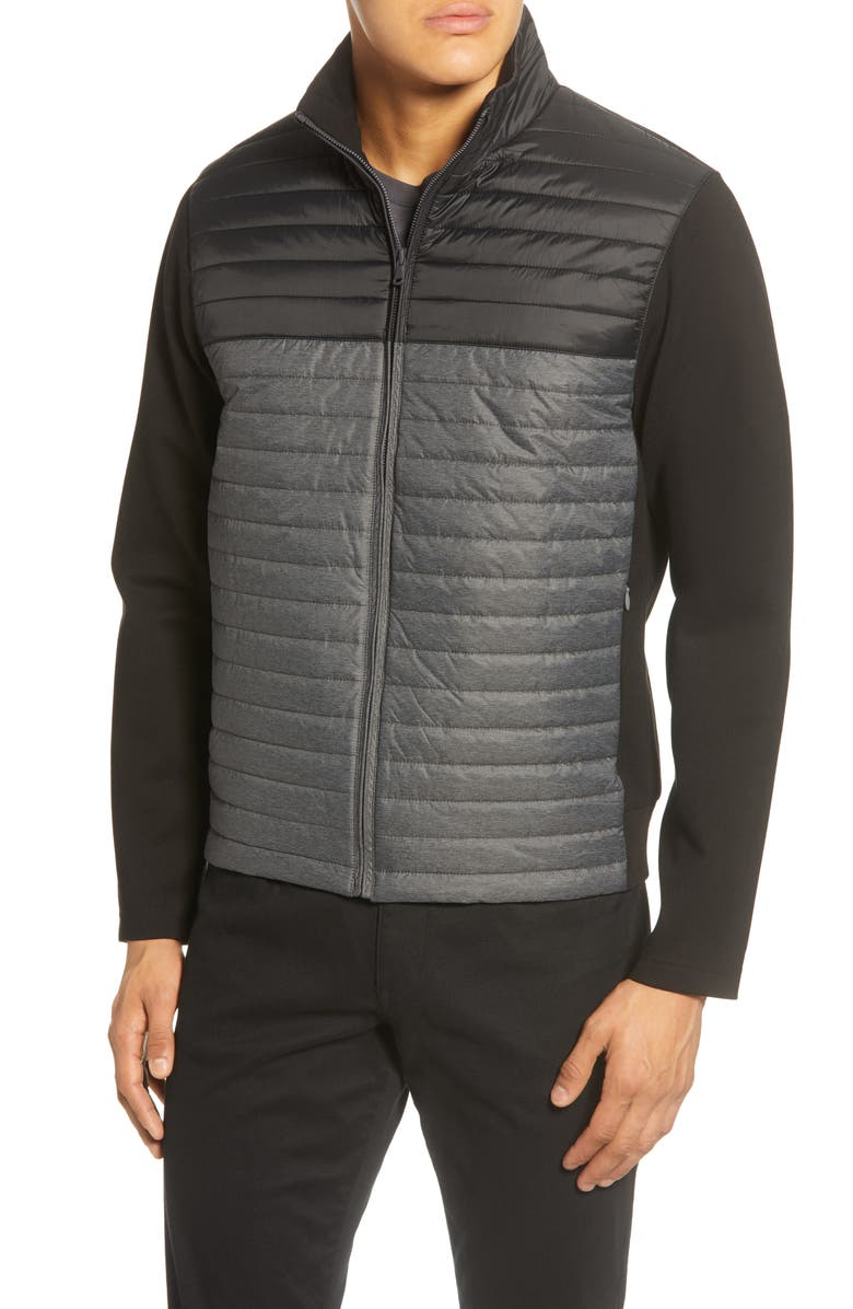 ZACHARY PRELL Montauk Quilted Bomber Jacket, Main, color, BLACK