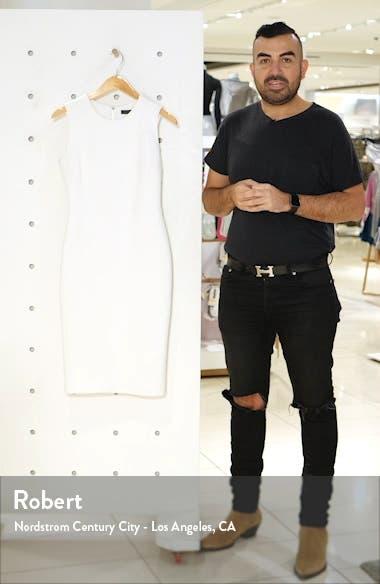 Textured Sleeveless Sheath Dress, sales video thumbnail