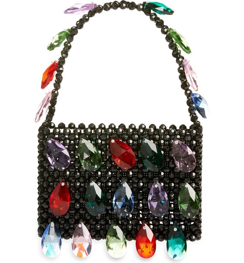 SUSAN ALEXANDRA Bianca Bead & Crystal Handbag, Main, color, NONE