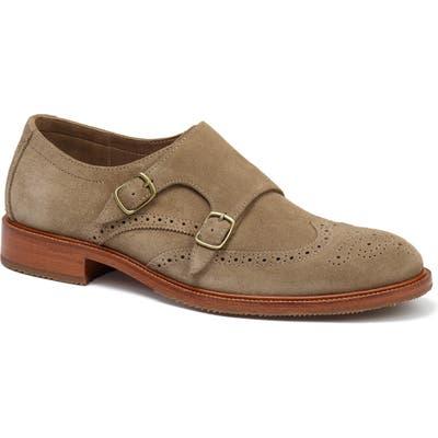 Trask Leland Double Monk Strap Shoe- Beige