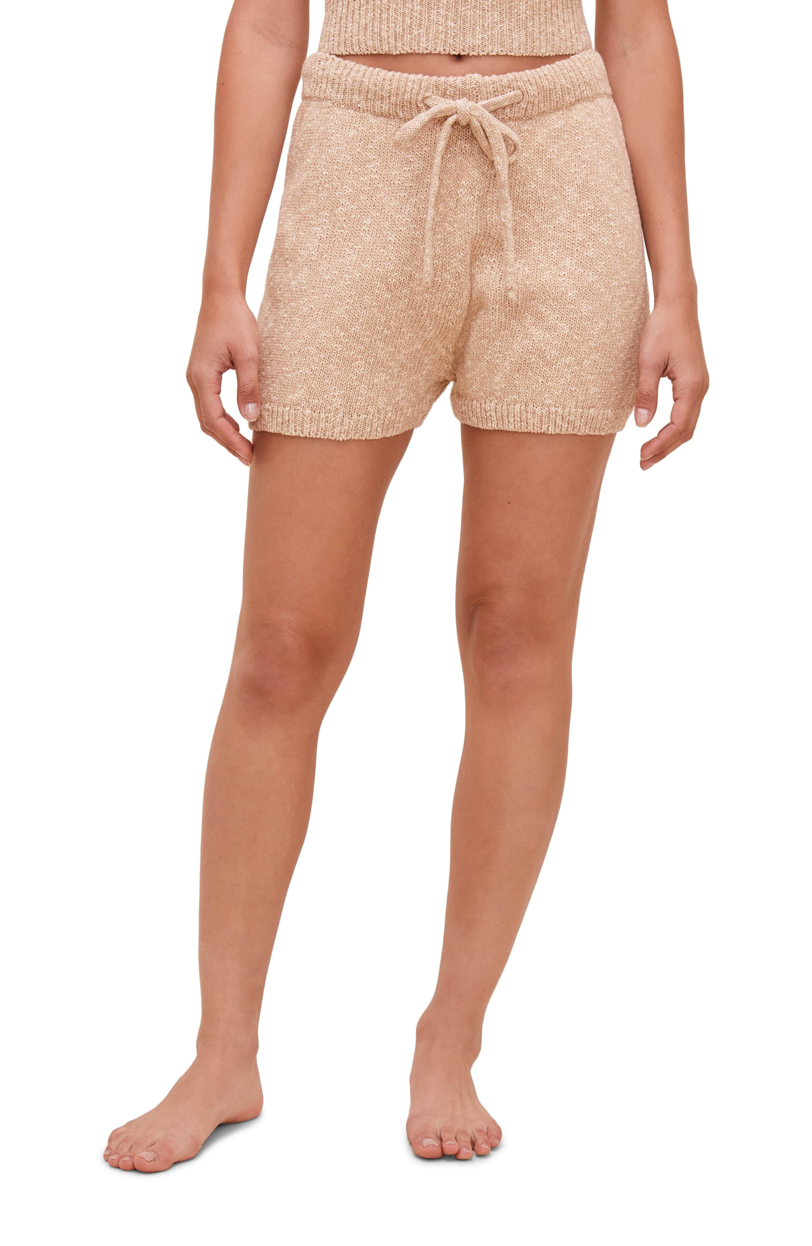 Affogato Cotton Knit Drawstring Shorts