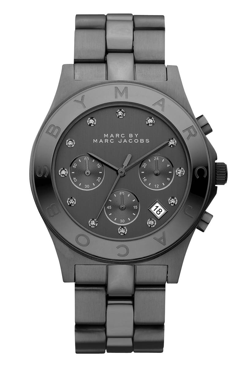MARC JACOBS 'Blade' Crystal Index Watch, 40mm, Main, color, 001