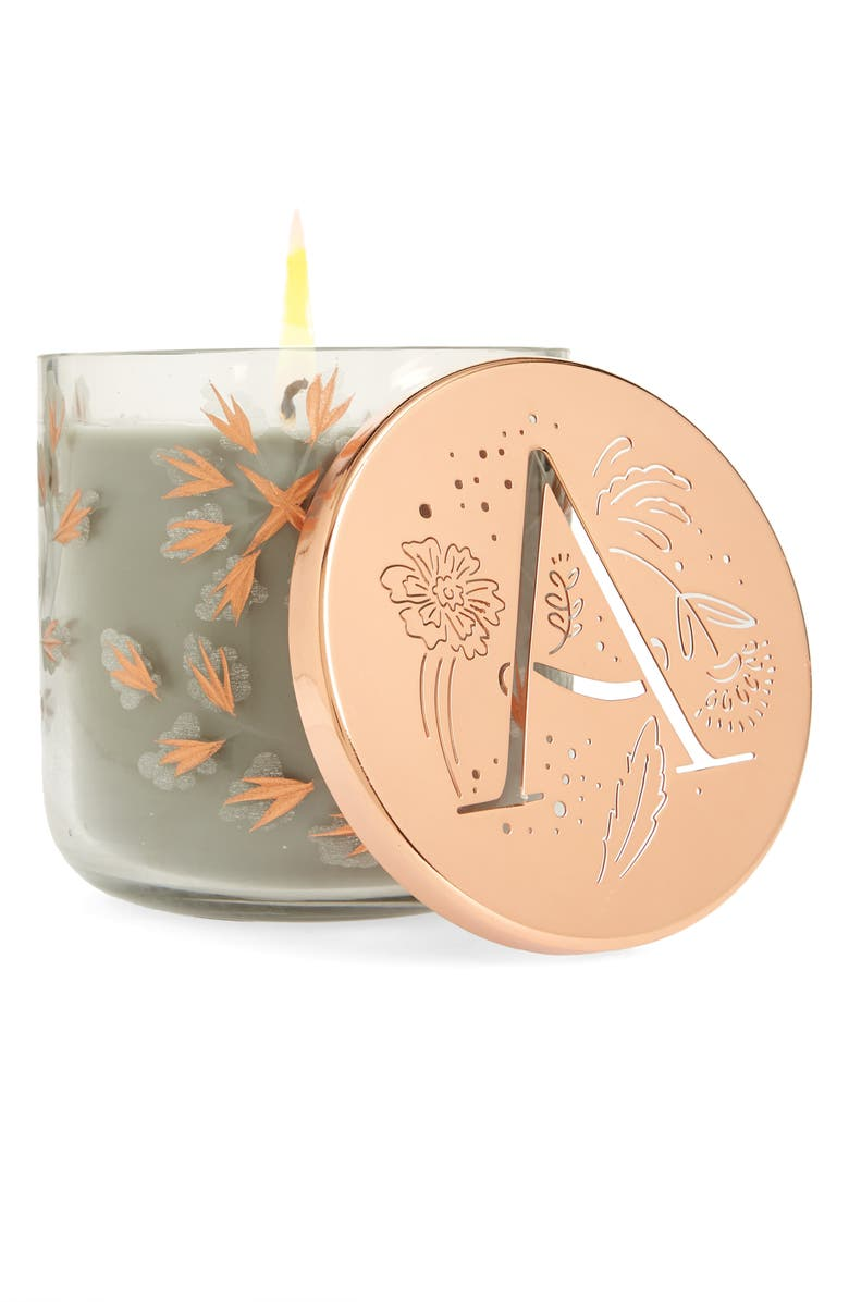 ANTHROPOLOGIE HOME Lumi Monogram Scented Candle, Main, color, A
