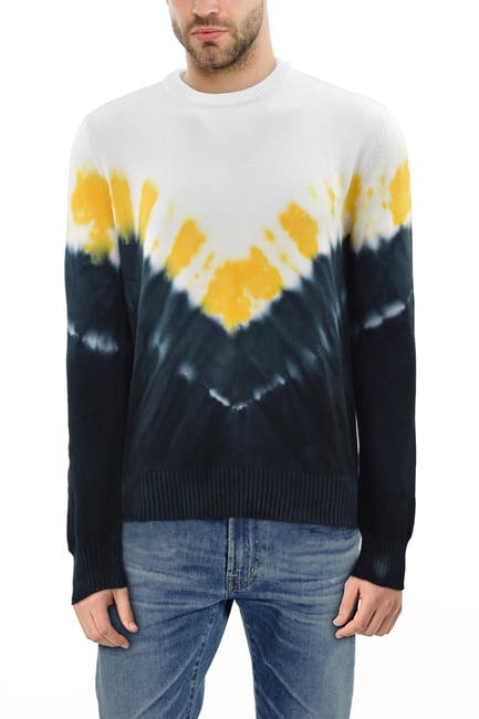Image of XRAY Arrow Tie Dye Crew Neck Sweater