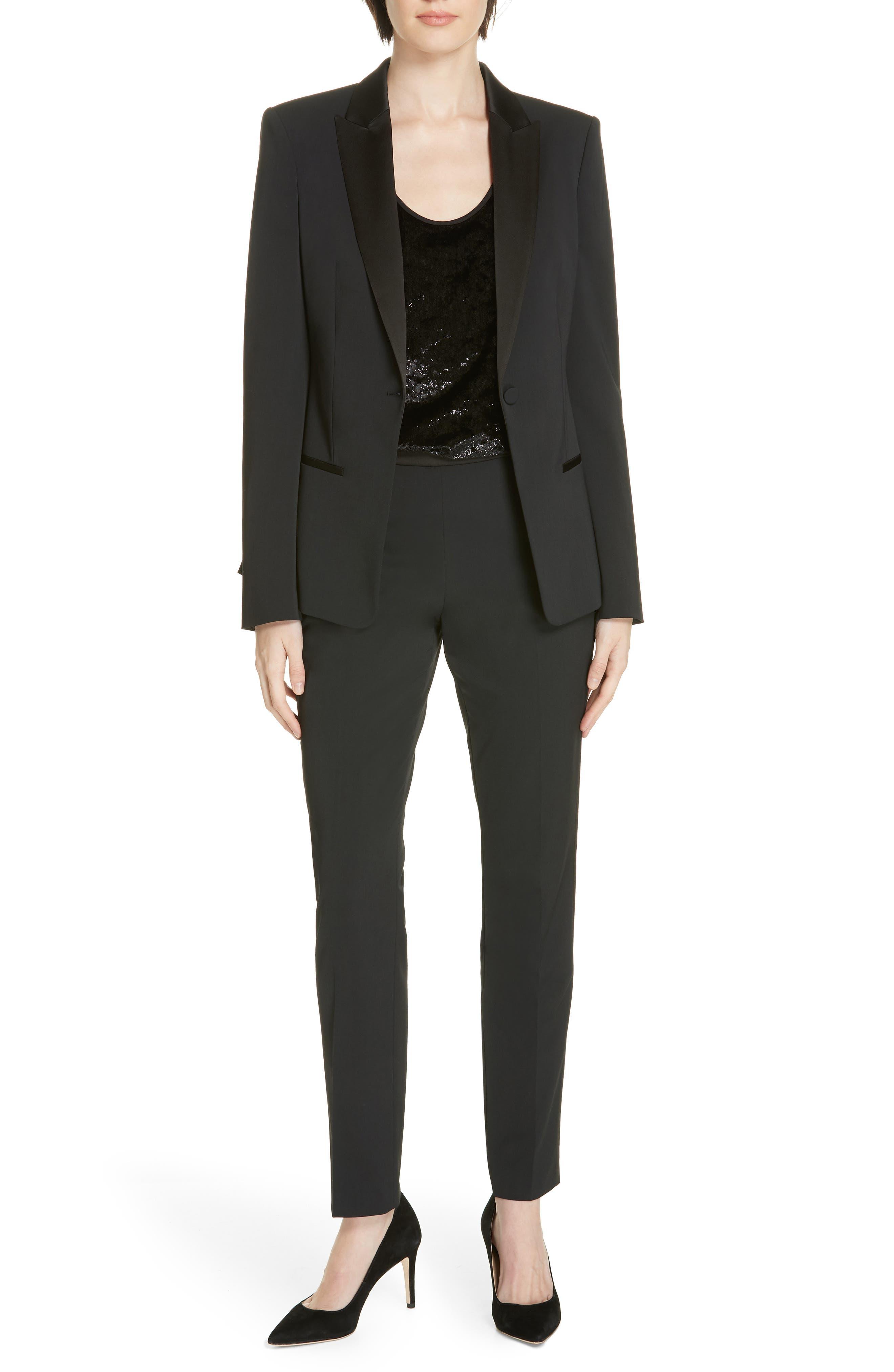,                             Jaxtiny Tuxedo Jacket,                             Alternate thumbnail 8, color,                             BLACK