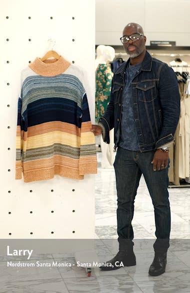 Mock Neck Stripe Sweater, sales video thumbnail
