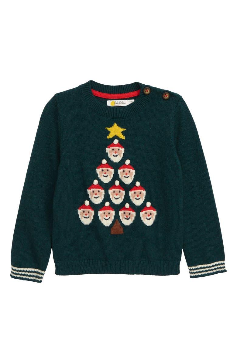 MINI BODEN Christmas Sweater, Main, color, 304