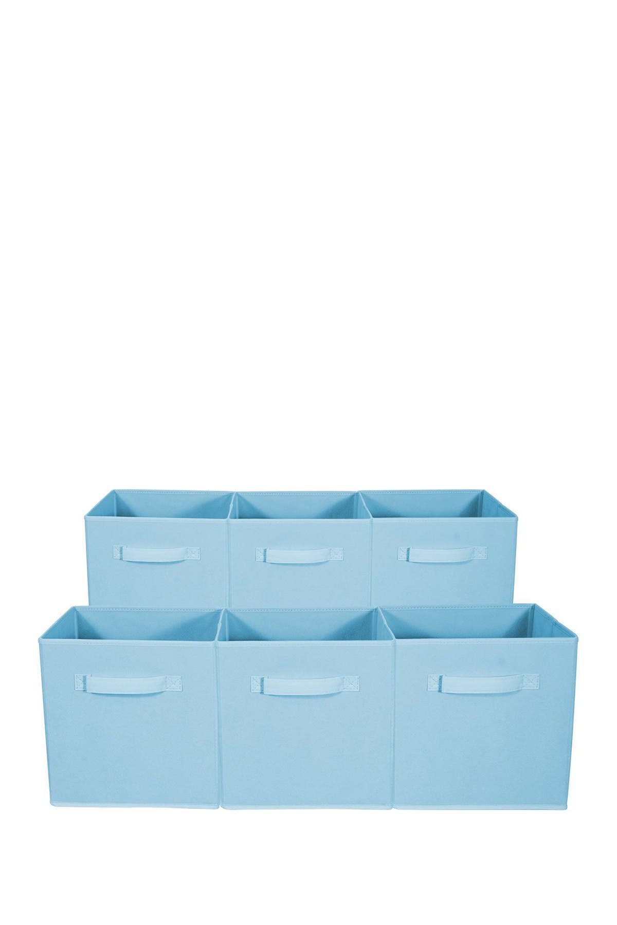 Image of Sorbus Foldable Storage Cube Basket Bin - Set of 6 - Pastel Blue