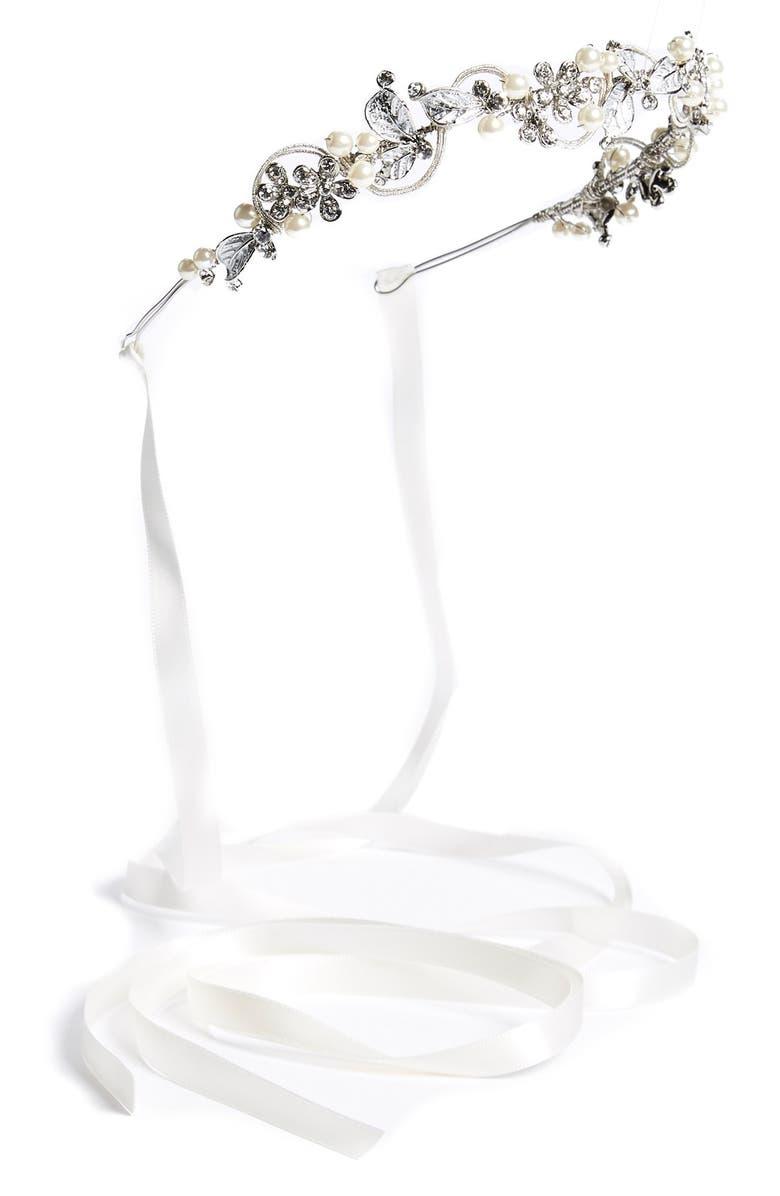 WEDDING BELLES NEW YORK Bead & Crystal Headband, Main, color, 040