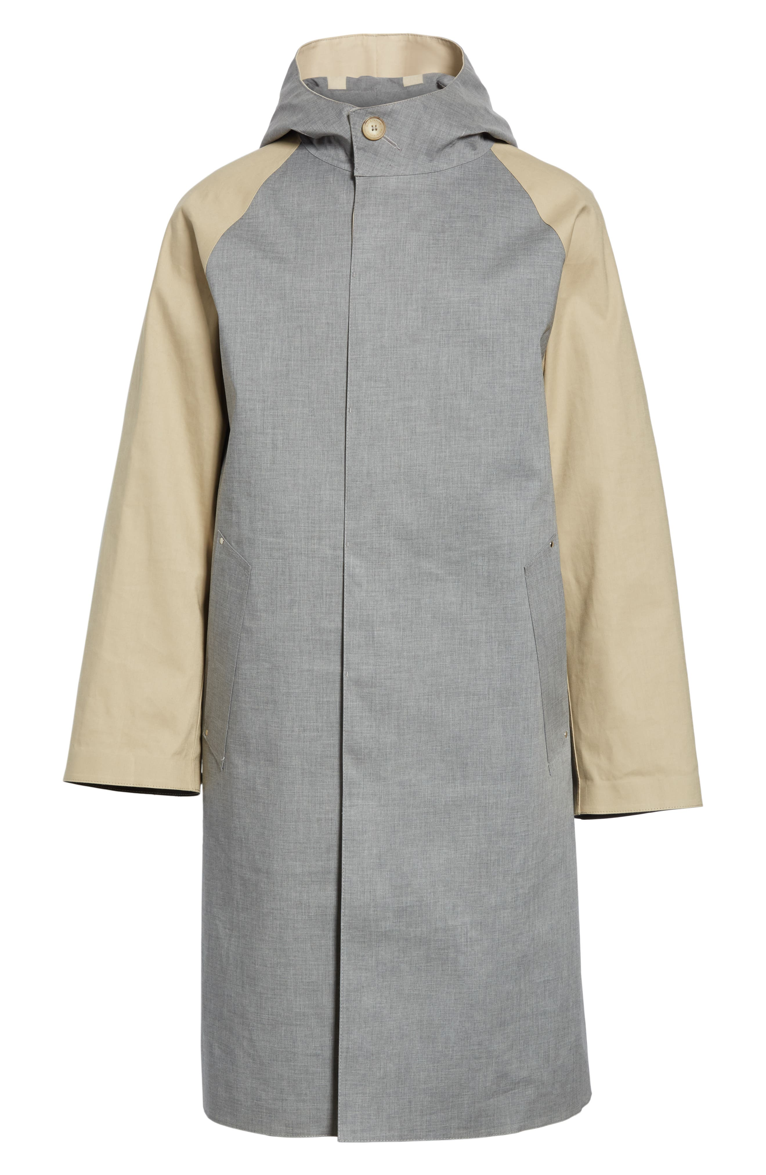 ,                             Bonded Cotton Hooded Jacket,                             Main thumbnail 1, color,                             LIGHT TOP GREY/ INK
