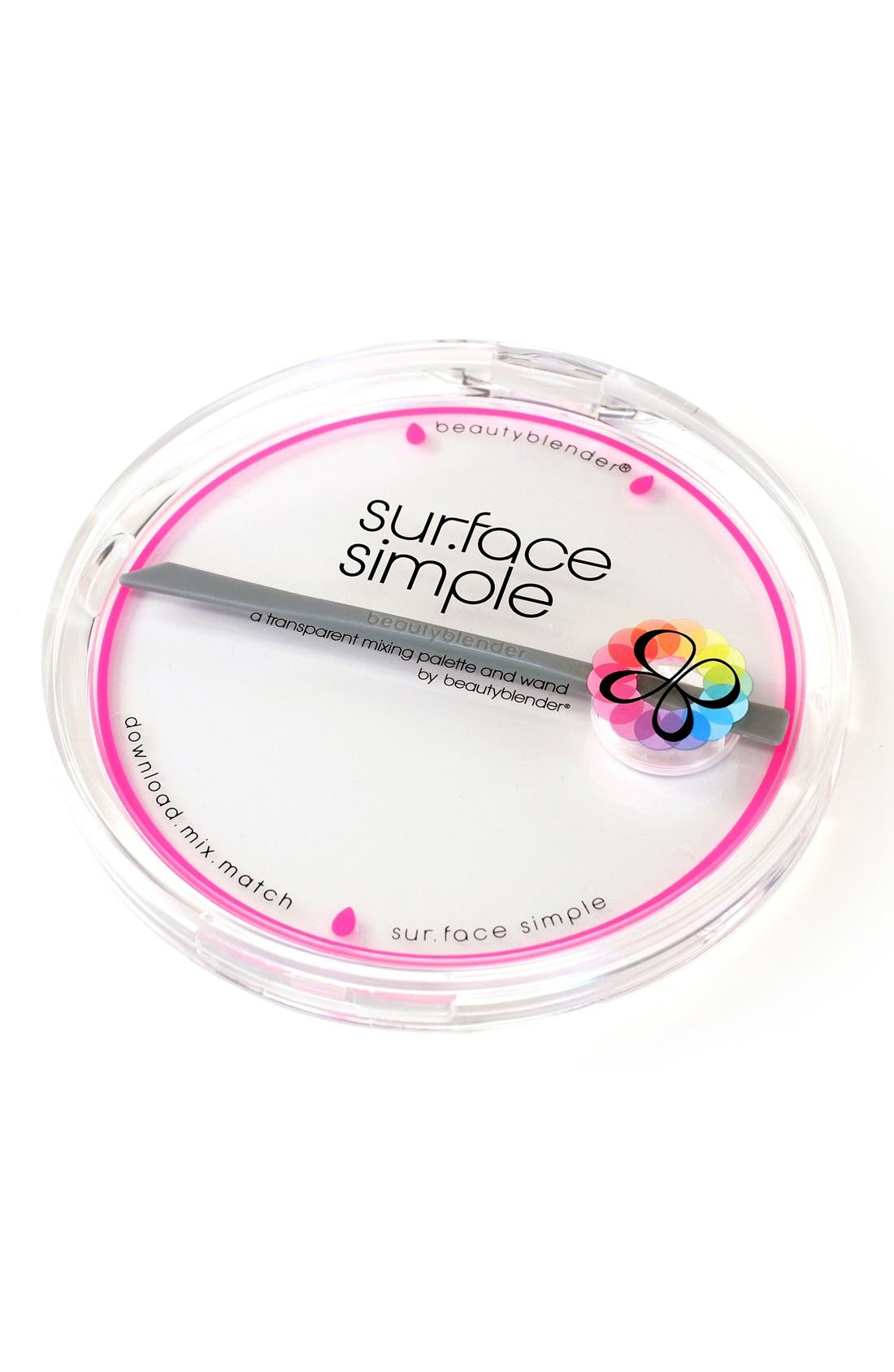 ,                             'sur.face simple' Transparent Mixing Palette & Wand,                             Alternate thumbnail 4, color,                             NO COLOR