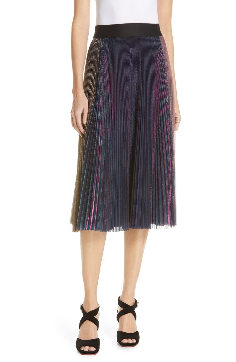 RACHEL COMEY Romana Pleated Skirt, Main, color, MULTI