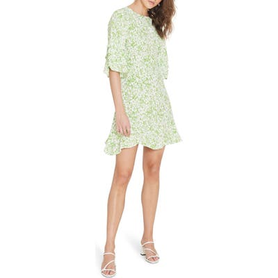 Faithfull The Brand Serafina Floral Minidress, Green