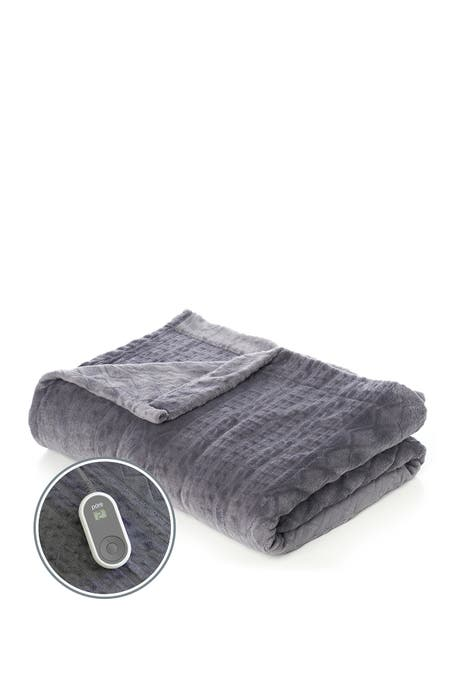PURE ENRICHMENT - PureRelief Radiance Deluxe Heated Blanket - Twin