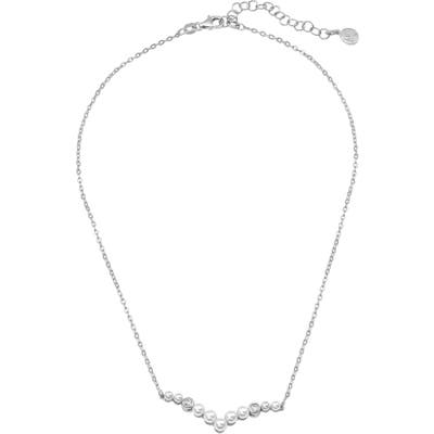 Majorica Simulated Pearl & Cubic Zirconia Necklace