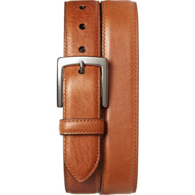 Shinola Bedrock Leather Belt, Bourbon