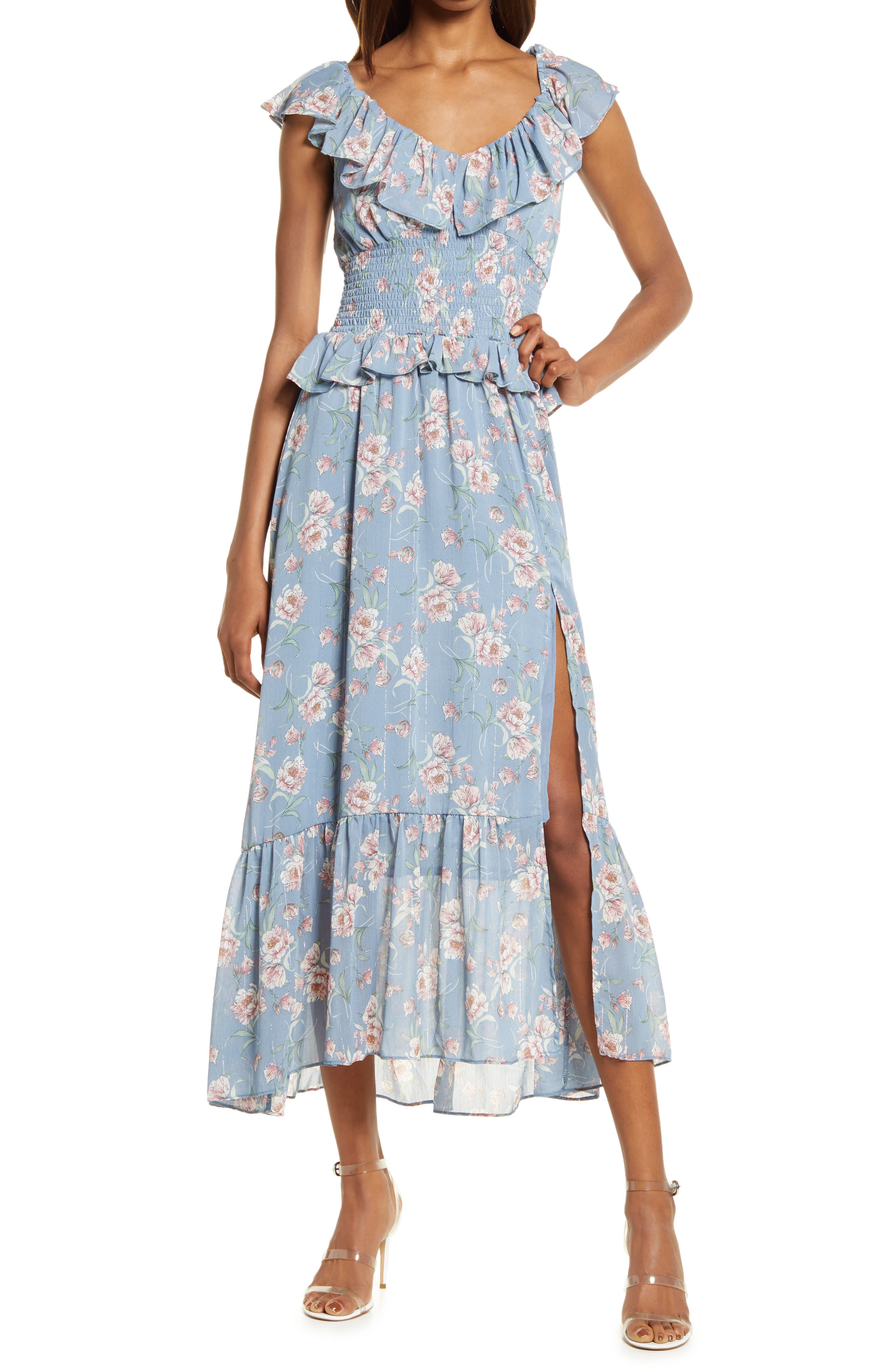 Luna Floral Smocked Midi Dress