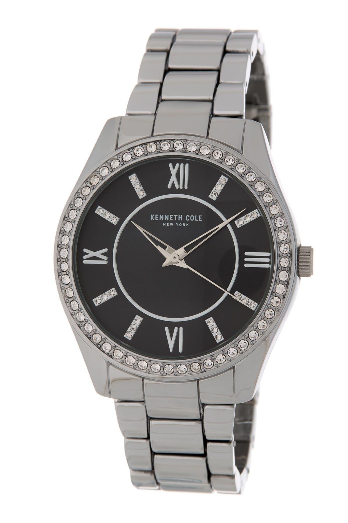 Image of Kenneth Cole New York Women's Crystal Bezel Bracelet Watch, 40mm
