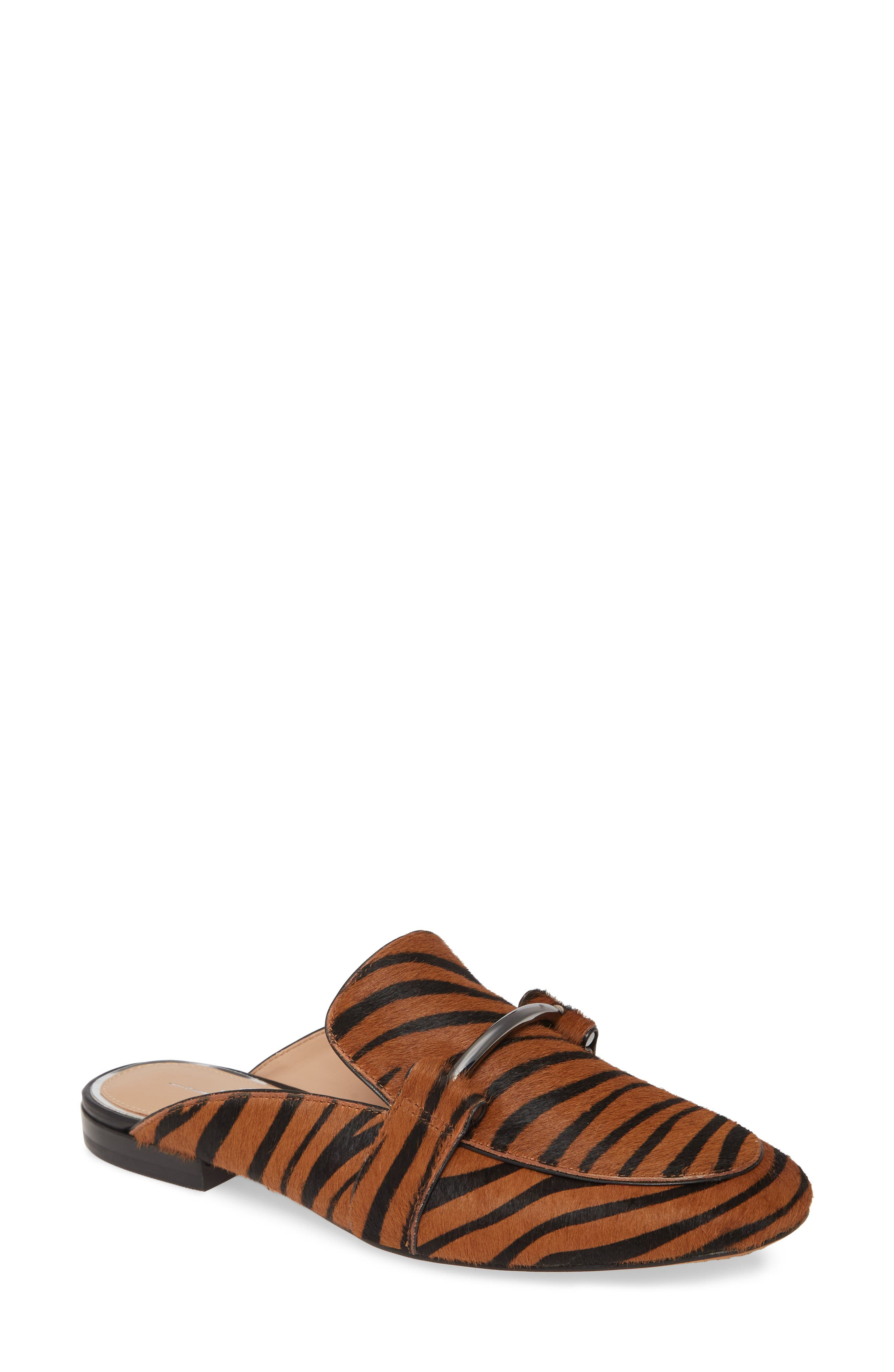 Linea Paolo Annette Genuine Calf Hair Loafer Mule, Brown