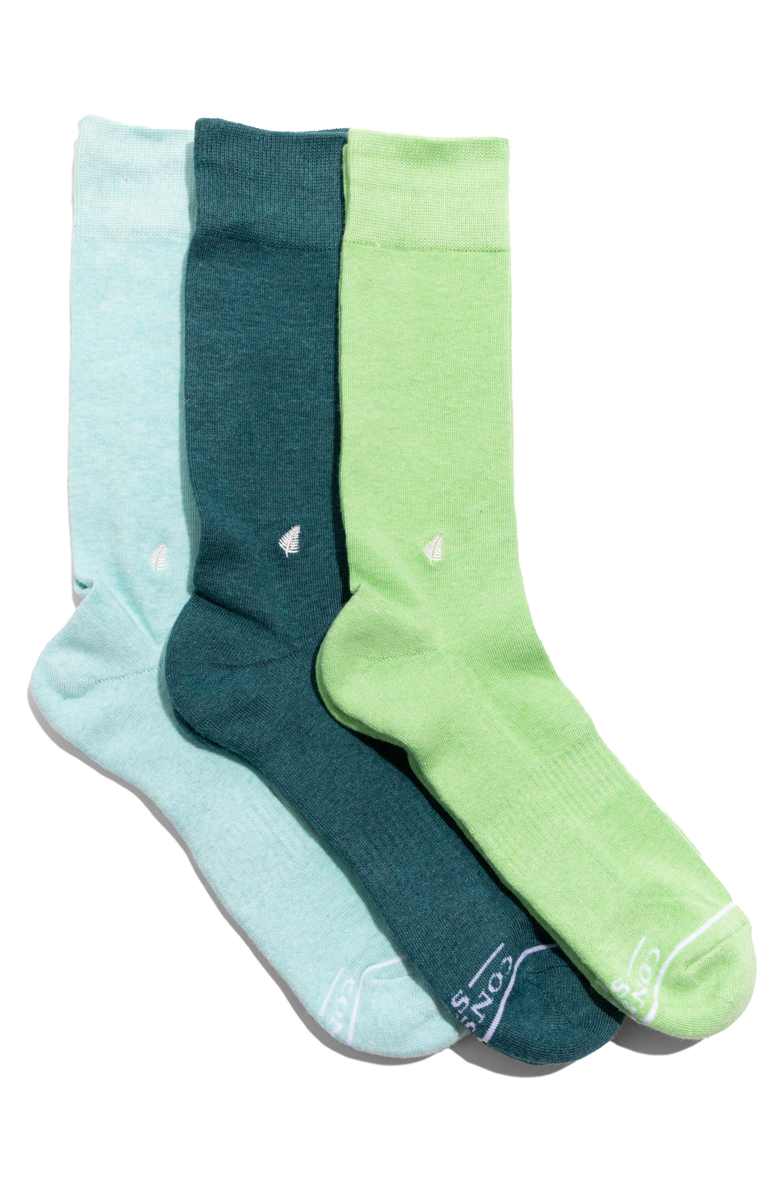 Protect Tropical Rainforests Assorted 3-Pack Crew Socks Gift Box