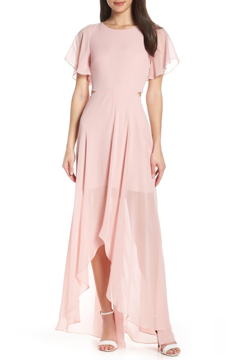 ALI & JAY Cutout Maxi Dress, Main, color, BLUSH