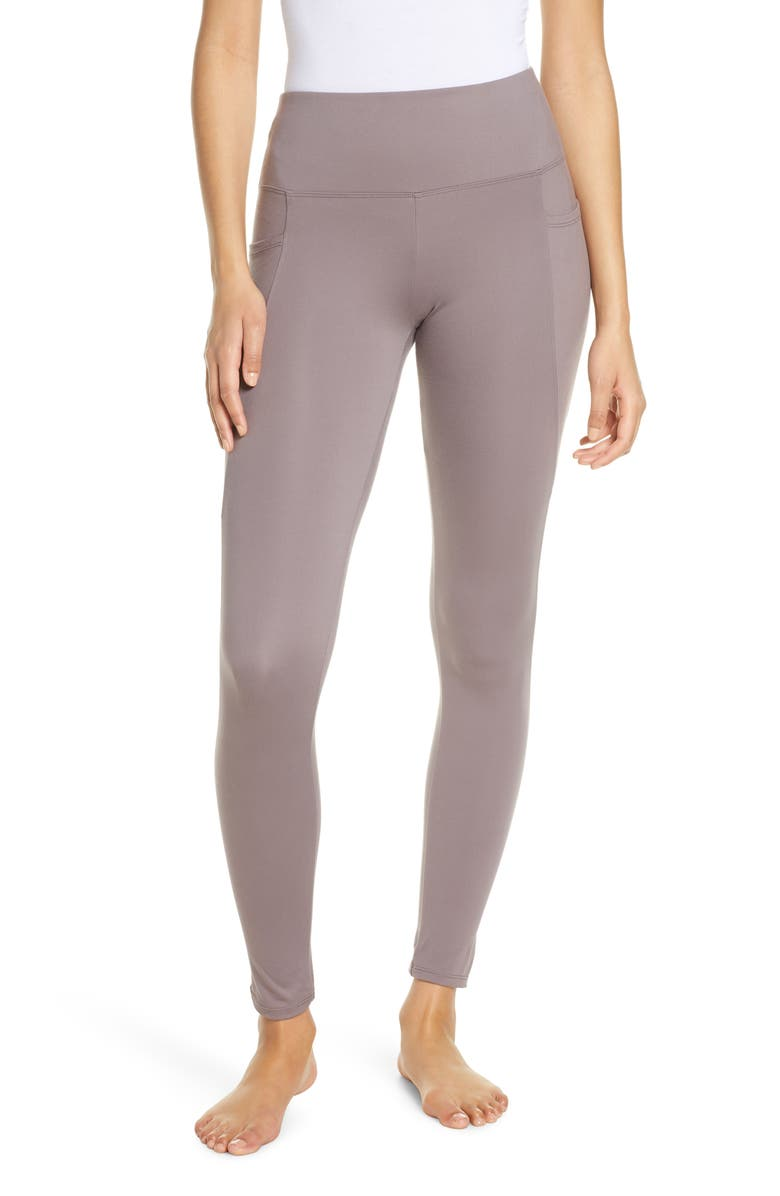 FELINA High Waist Pocket Leggings, Main, color, SPARROW