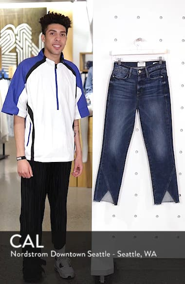 Le High Straight Asymmetrical Hem Jeans, sales video thumbnail