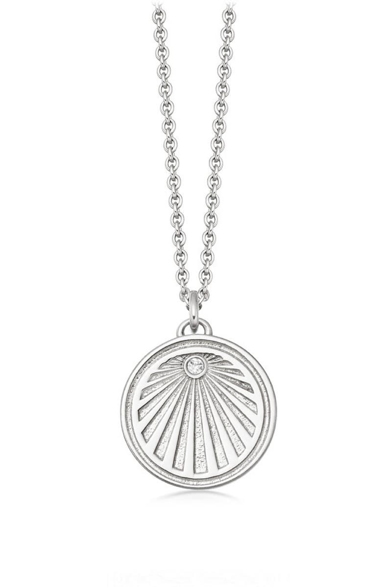 ASTLEY CLARKE Sunrise Celestial Pendant Necklace, Main, color, SILVER