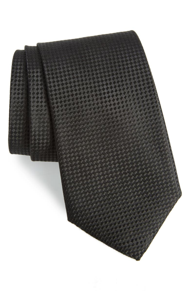 NORDSTROM MEN'S SHOP Check Silk Tie, Main, color, 001