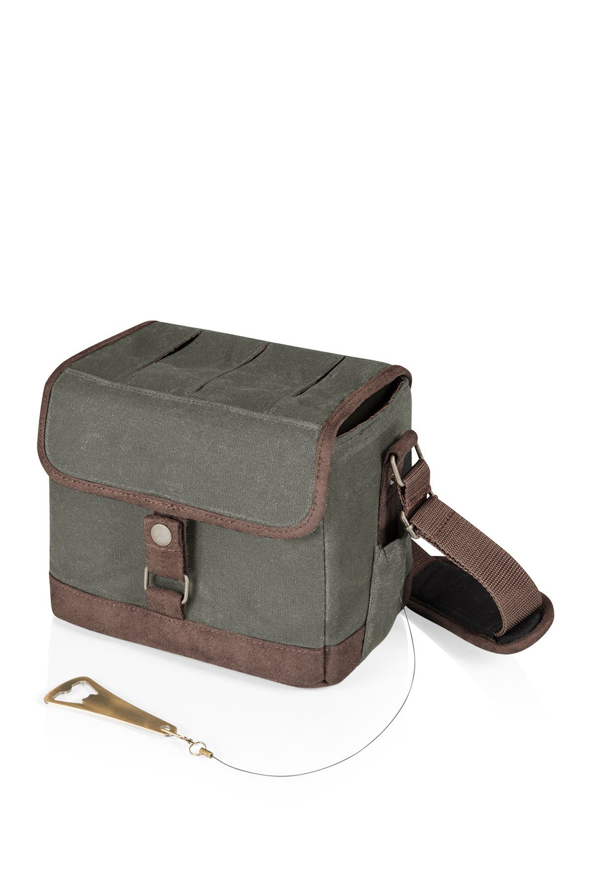 Image of Picnic Time Beer Caddy Cooler w/Opener - Khaki