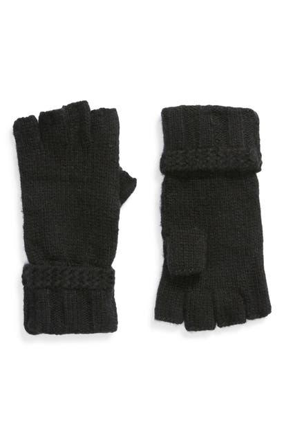 Ugg Fingerless Knit Gloves In Black