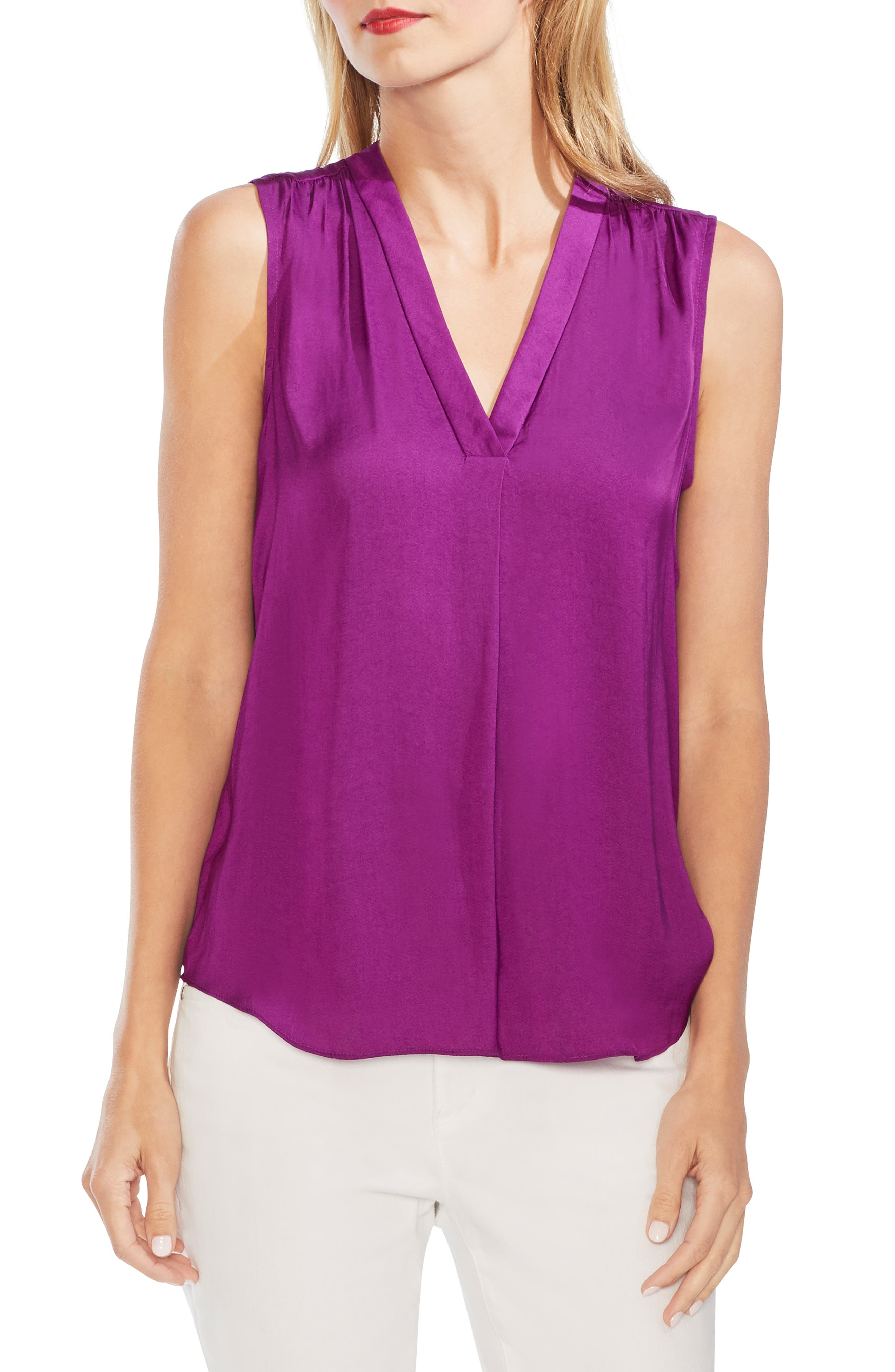 ,                             Rumpled Satin Blouse,                             Main thumbnail 51, color,                             560